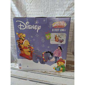 Gemmy Winnie the Pooh Eeyore sleigh Tigger inflata